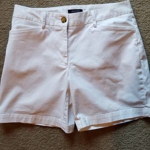 Land's End White Shorts